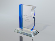 Bespoke Perspex Energy Award Trophy