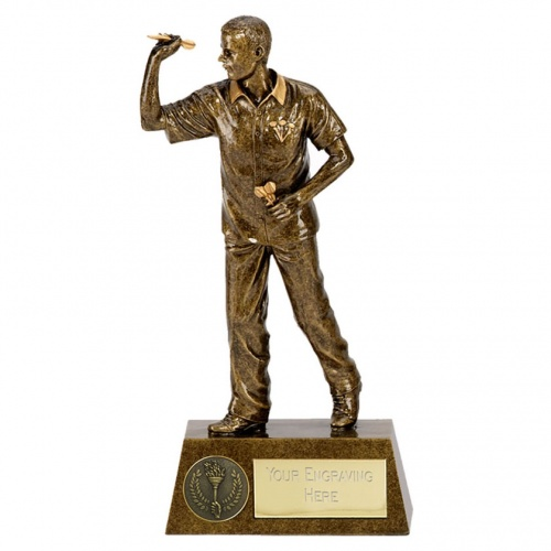 Male Darts Player Figure Trophy