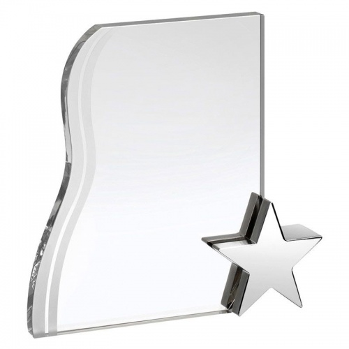 Glass Plaque With Star AC114