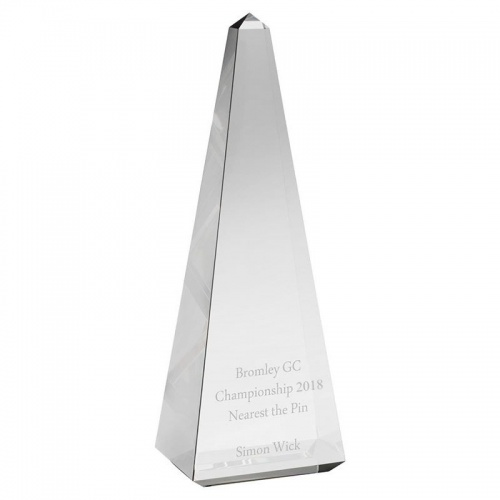 Optical Crystal Pyramid Award AC140