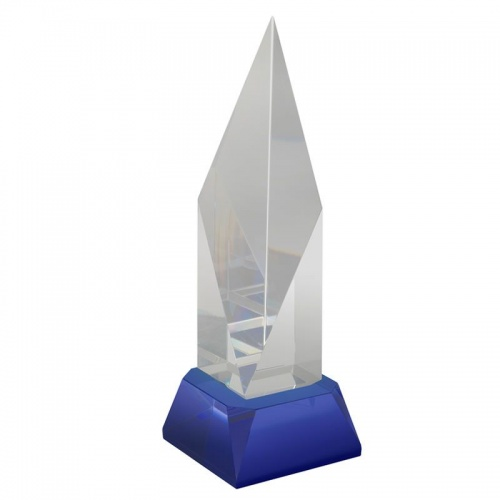 Clear & Blue Crystal Award AC203