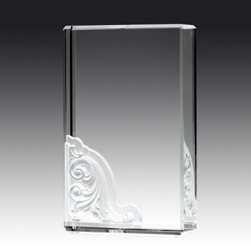 9in Prism Crystal Corinthian Block