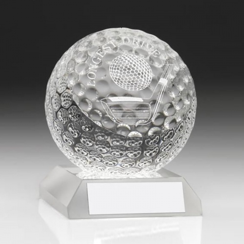 Glass Golf Ball Award GO71LD