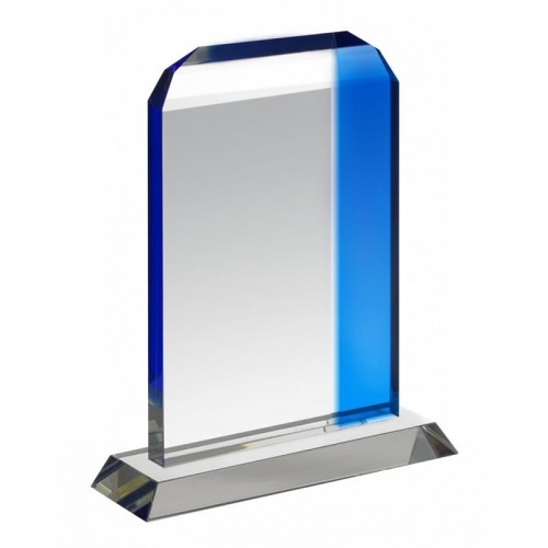 Clear & Blue Glass Plaque HC023