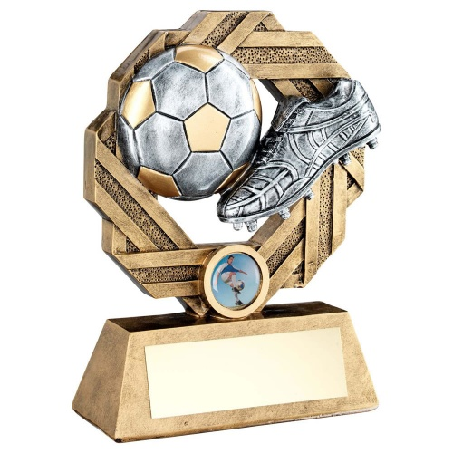 Resin Football Award in Gold & Silver RF761