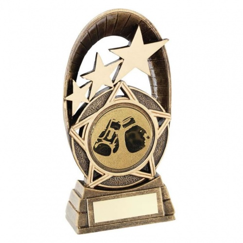 Boxing Oval Tri Star Trophy