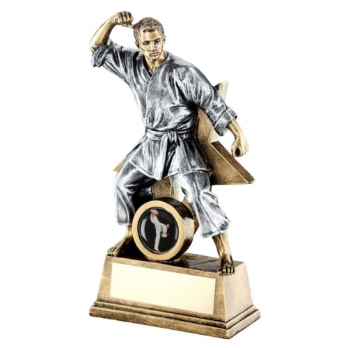 Resin Male Martial Arts Star Figure Trophy