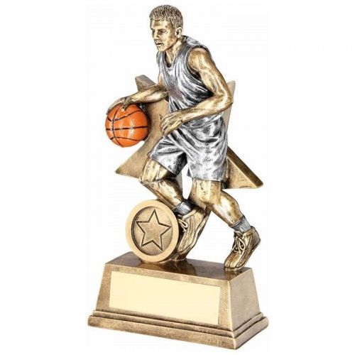 Male Basketball Player Trophy