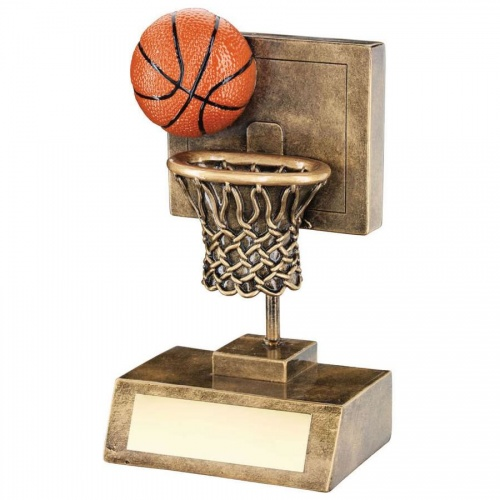 Basketball Backboard, Ball & Net Trophy