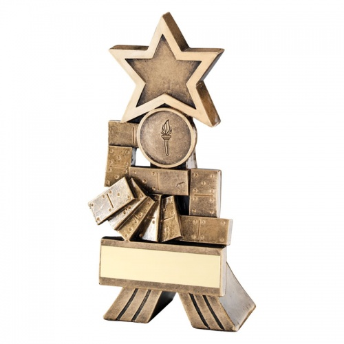6in Resin Dominoes Trophy RF532