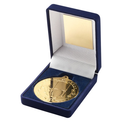 Gold Rugby Medal With Case