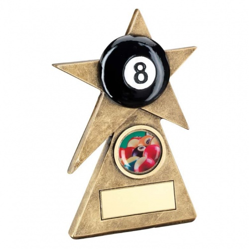 Resin Pool 8 Ball Star Trophy