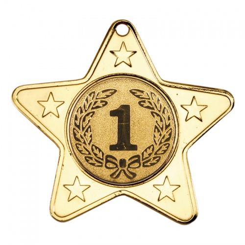50mm Gold Star Number One Medal M10