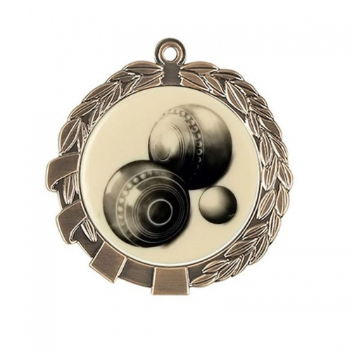 Lawn Bowls Medal in Bronze Finish