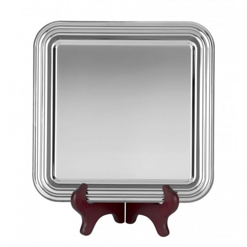 11in Square Nickel Plated Tray S9