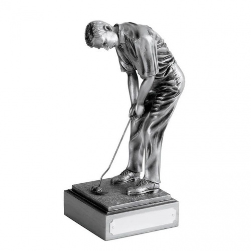 Resin Silver Golf Figure - The Champion
