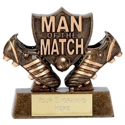 Football Man of the Match Mini Trophy
