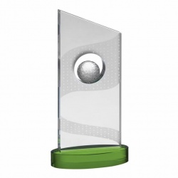 Green Crystal Golf Ball Award