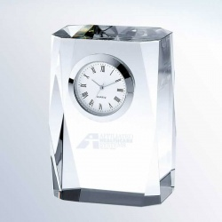 Crystal Bevelled Column Clock