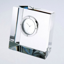 Crystal Slanted Block Clock