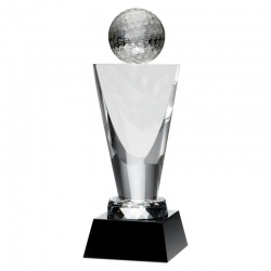Clear & Black Glass Golf Award
