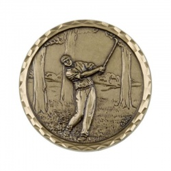 Gold Plated Golf Medal CEB443