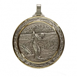 60mm Silver Golf Medal