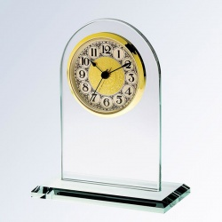 Jade Glass Arch Clock - Arabic
