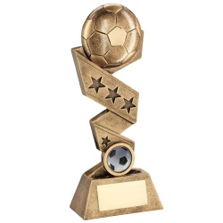 Resin Football on Star Studded Ribbon Trophy