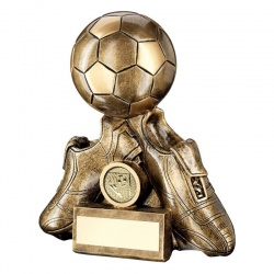 Resin Football Boots & Ball Trophy RF255