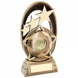 Resin Football Trophy in Bronze & Gold RF711