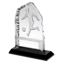 Football Clear Glass Iceberg Plaque