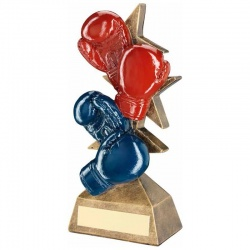Red & Blue Boxing Gloves Trophy