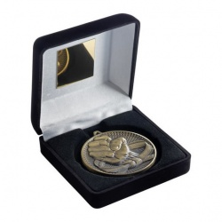 Gold Martial Arts Medal in Black Case