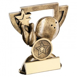 Ten Pin Bowling Mini Cup Trophy