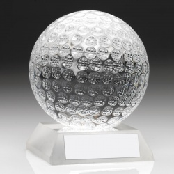 3in Glass Golf Ball Award GO50