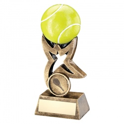 Resin Tennis Ball on Star Trophy