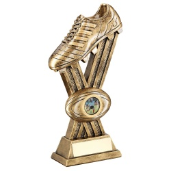 Resin Bronze Rugby Boot Trophy RF304