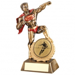 7.25in Resin Rugby Super Hero Trophy