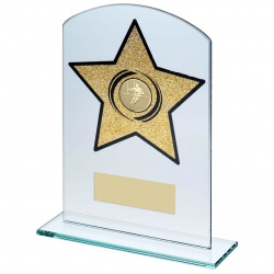 Jade Glass Gold Star Rugby Plaque
