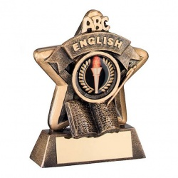 Schools English Trophy Mini Star in Bronze & Gold