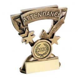 School Attendance Trophy with Base Plaque