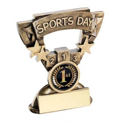 School Sports Day Trophy with Base Plaque