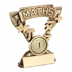 School Maths Trophy with Base Plaque