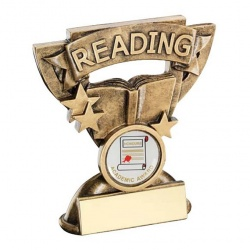 School Reading Trophy with Base Plaque