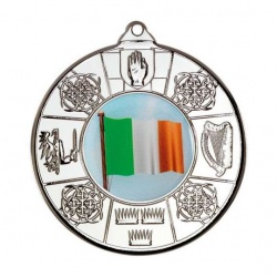 50mm Irish 4 Provinces Silver Medal