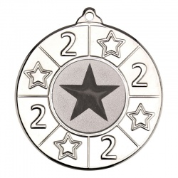 50mm Silver Number Two Star Medal M93