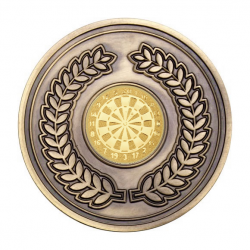 70mm Antique Gold Darts Laurel Wreath Medal