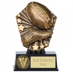 Rugby Ball & Boot Mini Trophy