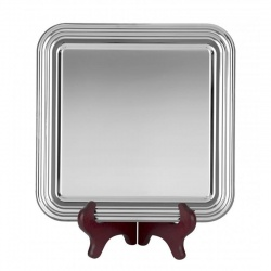 7in Square Nickel Plated Tray S9